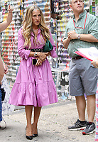 NEW YORK, NY - July 20: Sarah Jessica Parker on the set of the HBOMax Sex and the City reboot series And Just Like That on July 20, 2021 in New York City. Credit: RW/MediaPunch
