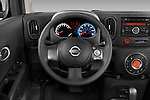 Steering wheel view of a 2009 Nissan Cube SL
