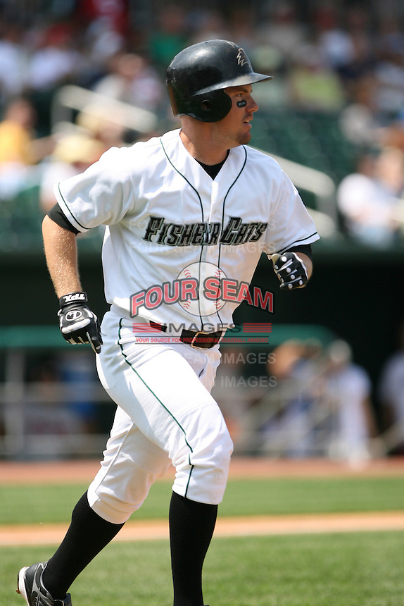 2007:  Dustin Majewski of the New Hampshire Fisher Cats, Class-AA affiliate of the Toronto Blue Jays, during the Eastern League baseball season.  Photo by Mike Janes/Four Seam Images