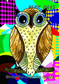Kris, REALISTIC ANIMALS, REALISTISCHE TIERE, ANIMALES REALISTICOS, paintings+++++,PLKKE645,#a#, EVERYDAY ,owl,owls