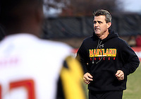 COLLEGE PARK, MD - NOVEMBER 25, 2012: Sasho Cirovski coach of the University of Maryland against Coastal Carolina University during an NCAA championship third round match at Ludwig Field, in College Park, MD, on November 25. Maryland won 5-1.