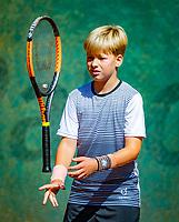 Hilversum, Netherlands, August 6, 2018, National Junior Championships, NJK, Pieter de Lange (NED)<br /> Photo: Tennisimages/Henk Koster