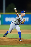 Kingsport Mets relief pitcher Joe Napolitano (38) delivers a pitch to the plate against the Burlington Royals at Burlington Athletic Stadium on July 18, 2016 in Burlington, North Carolina.  The Royals defeated the Mets 8-2.  (Brian Westerholt/Four Seam Images)