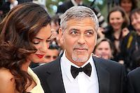 George Clooney et Amal - CANNES 2016 - MONTEE DES MARCHES DU FILM 'MONEY MONSTER'