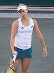 April  7, 2016:   Daria Gavrilova (AUS) battles against Sloane Stephens (USA)  at the Volvo Car Open being played at Family Circle Tennis Center in Charleston, South Carolina.  ©Leslie Billman/Tennisclix/Cal Sport Media