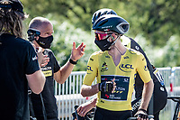 at the race start in Le Teil<br /> <br /> Stage 6 from Le Teil to Mont Aigoual (191km)<br /> <br /> 107th Tour de France 2020 (2.UWT)<br /> (the 'postponed edition' held in september)<br /> <br /> ©kramon