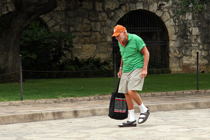 Senior citizen walking