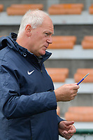 headcoach Guido Brepoels of KRC Genk  pictured during a female soccer game between SV Zulte - Waregem and KRC Genk on the second matchday of the 2021 - 2022 season of Belgian Scooore Womens Super League , saturday 28 of August 2021  in Zulte , Belgium . PHOTO SPORTPIX   DIRK VUYLSTEKE