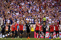 Action photo during the match United States vs Paraguay, Corresponding to  Group -A- of the America Cup Centenary 2016 at Lincoln Financial Field Stadium.<br /> <br /> Foto de accion durante el partido Estados Unidos vs Paraguay, Correspondiente al Grupo -A- de la Copa America Centenario 2016 en el Estadio Lincoln Financial Field , en la foto: John Brooks y ugadores de USa Agradecen a sus fans<br />  <br /> <br /> 11/06/2016/MEXSPORT/Osvaldo Aguilar.