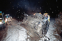 Remains of a car involved in a road traffic accident. The car was stolen and used for joyriding and taken without the owners consent. This image may only be used to portray the subject in a positive manner..©shoutpictures.com..john@shoutpictures.com