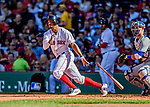 22 June 2019: Boston Red Sox shortstop Xander Bogaerts at bat against the Toronto Blue Jays at Fenway :Park in Boston, MA. The Blue Jays rallied to defeat the Red Sox 8-7 in the 2nd game of their 3-game series. Mandatory Credit: Ed Wolfstein Photo *** RAW (NEF) Image File Available ***