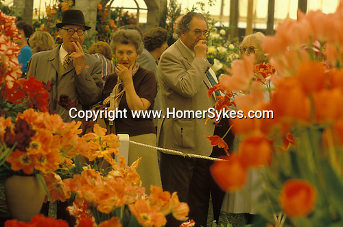 The Chelsea Flower Show.  <br /> 1980s.<br /> Taken for my book The English Season published by Pavilion Books 1987