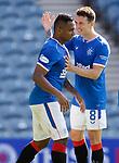 Rangers v St Mirren:  Ryan Jack congratulates goalscorer Alfredo Morelos