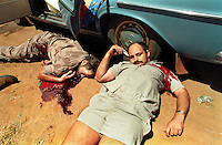 Three Afrikaner Weerstandsbeweging (Afrikaner Resistance Movement /AWB) men killed in Mmabatho. Alwyn Wolfaardt, Nicolaas Fourie and Jacobus Stephanus Uys were shot dead at point-blank range in front of journalists by a Bophuthatswana police constable, Ontlametse Bernstein Menyatsoe, during the coup d'etat which resulted in the reincorporation of the Bophuthatswana homeland into South Africa.
