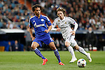 Real Madrid´s Modric and Schakle 04 Sane during Champions League soccer match at Santiago Bernabeu stadium in Madrid, Spain. March, 10, 2015. (ALTERPHOTOS/Caro Marin)