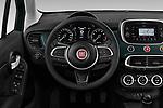 Car pictures of steering wheel view of a 2019 Fiat 500X City-Cross 5 Door SUV Steering Wheel