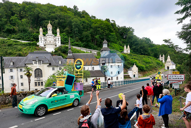 The publicity caravan before Stage 18 of the 2021 Tour de France, running 129.7km from Pau to Luz Ardiden, France. 15th July 2021.  <br /> Picture: A.S.O./Aurelien Vialatte | Cyclefile<br /> <br /> All photos usage must carry mandatory copyright credit (© Cyclefile | A.S.O./Aurelien Vialatte)