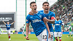 13.05.2018 Hibs v Rangers: Jason Holt celebrates with James Tavernier