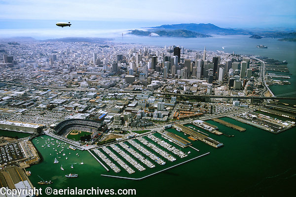 """Opening Day AT&T Giants Ball Park, San Francisco, CA, April 11, 2000.  This photograph is also available as a 22 x 28"""" poster.  To order the poster type """"opening & poster"""" into the search box."""