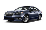 Stock pictures of low aggressive front three quarter view of a 2018 Subaru Legacy Premium 4 Door Sedan