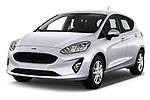 2017 Ford Fiesta Business-Class 5 Door Hatchback Angular Front stock photos of front three quarter view