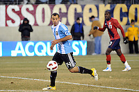 Javier Mascherano (14) of Argentina. The United States (USA) and Argentina (ARG) played to a 1-1 tie during an international friendly at the New Meadowlands Stadium in East Rutherford, NJ, on March 26, 2011.
