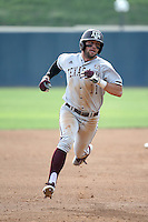 J.B. Moss (11) of the Texas A&M Aggies runs the bases during a game against the Pepperdine Waves at Eddy D. Field Stadium on February 26, 2016 in Malibu, California. Pepperdine defeated Texas A&M, 7-5. (Larry Goren/Four Seam Images)