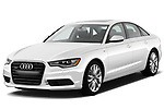 Car photography straight front view of a 2012-2014 Audi A6  Premium Plus 4 Door Sedan