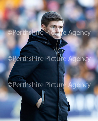 St Johnstone v Rangers…..23.02.20   McDiarmid Park   SPFL<br />Steven Gerraard as the final whistle goes<br />Picture by Graeme Hart.<br />Copyright Perthshire Picture Agency<br />Tel: 01738 623350  Mobile: 07990 594431
