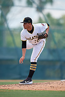 GCL Pirates pitcher Bryan Torres (70) during a Gulf Coast League game against the GCL Braves on July 30, 2019 at Pirate City in Bradenton, Florida.  GCL Braves defeated the GCL Pirates 10-4.  (Mike Janes/Four Seam Images)