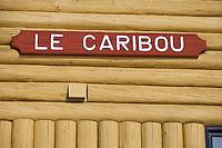 Amérique/Amérique du Nord/Canada/Québec/   Sainte-Catherine -de-la -Jacques-Cartier:   Auberge Duschesnay à la station touristique de Duschesnay prés du lac Saint-Joseph les pavillons portent les noms des animaux de la forêt canadienne