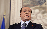 Italy's former Prime Minister and leader of Forza Italia Silvio Berlusconi speaks as he leaves at the end of his  consultations  with Italian President Sergio Mattarella at the Quirinale Palace, on December 10, 2016.<br /> UPDATE IMAGES PRESS/IsabellaBonotto