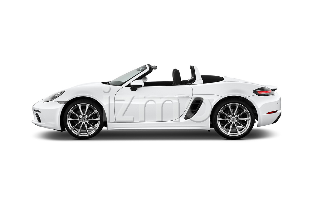 Car Driver side profile view of a 2019 Porsche 718-Boxster S 2 Door Convertible Side View