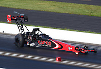 Jul 12, 2020; Clermont, Indiana, USA; NHRA top fuel driver Billy Torrence during the E3 Spark Plugs Nationals at Lucas Oil Raceway. This is the first race back for NHRA since the start of the COVID-19 global pandemic. Mandatory Credit: Mark J. Rebilas-USA TODAY Sports