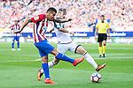"""Atletico de Madrid's player Ángel Martín Correa and Deportivo de la Coruña's player Luis """"Luisinho"""" Carlos Correia during a match of La Liga Santander at Vicente Calderon Stadium in Madrid. September 25, Spain. 2016. (ALTERPHOTOS/BorjaB.Hojas)"""