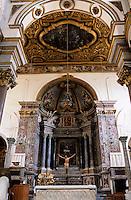 Europe/Italie/Côte Amalfitaine/Campagnie/Amalfi : Le Duomo di Sant'Andrea (dont la structure date du XVIII° et la façde du XIX°) - Intérieur
