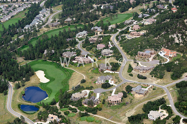 Aerial of golf course community