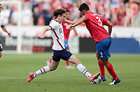 SANDY, UT - JUNE 10: Brenden Aaronson #11of the United States chases down a loose ball during a game between Costa Rica and USMNT at Rio Tinto Stadium on June 10, 2021 in Sandy, Utah.