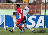 Jared Watts passes the ball. US Under-17 Men's National Team defeated United Arab Emirates 1-0 at Gateway International  Stadium in Ijebu-Ode, Nigeria on November 1, 2009.