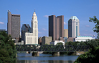 Columbus, Ohio's Downtown skyline.<br />
