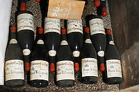 old bottles in the cellar 1995 dom du vieux telegraphe chateauneuf du pape rhone france