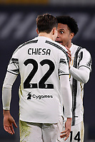 Federico Chiesa of Juventus FC celebrates with Weston McKennie after scoring the goal of 2-0 during the Serie A football match between Juventus FC and Udinese Calcio at Juventus stadium in Torino  (Italy), January, 3rd 2021.  Photo Federico Tardito / Insidefoto