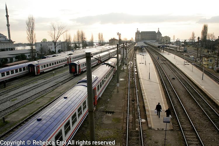 Haydarpasa train station in Istanbul, Turkey