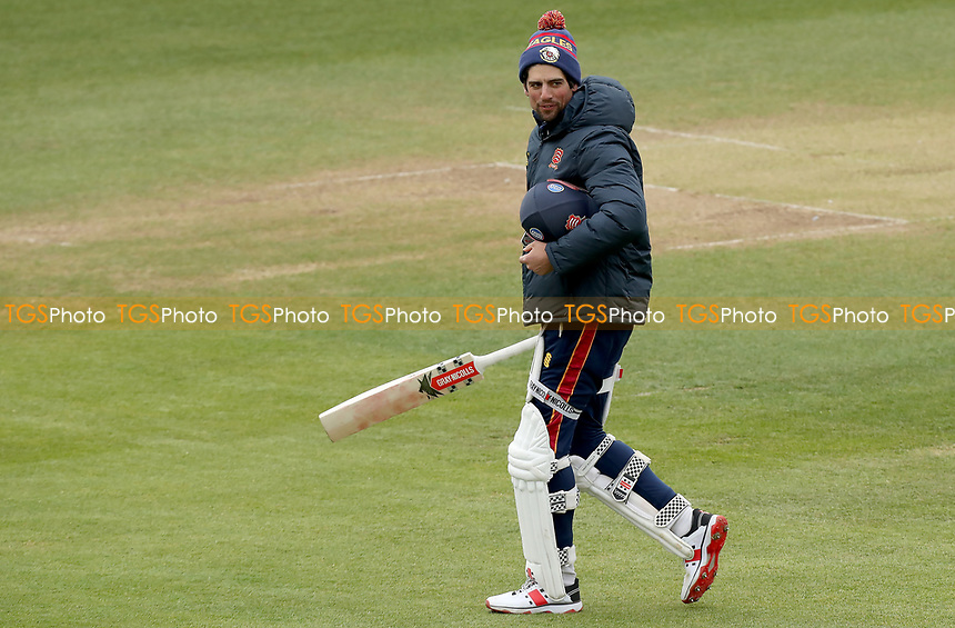 Sir Alastair Cook of Essex walks onto the pitch prior to Essex CCC vs Worcestershire CCC, LV Insurance County Championship Group 1 Cricket at The Cloudfm County Ground on 8th April 2021