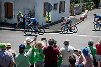 Ivan García Cortina (ESP/Movistar) leading the way<br /> <br /> Stage 19 from Mourenx to Libourne (207km)<br /> 108th Tour de France 2021 (2.UWT)<br /> <br /> ©kramon