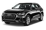 2021 Audi Q3 S-line 5 Door SUV Angular Front automotive stock photos of front three quarter view