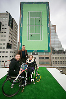 Rotterdam, The Netherlands, Februari 8, 2016,  ABNAMROWTT, Maikel Scheffers (NED), Esther Vergeer (NED), Richard Krajicek (NED)<br /> Photo: Tennisimages/Henk Koster