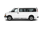 Car driver side profile view of a 2014 Chevrolet Express 2500 LS 2 Door Van