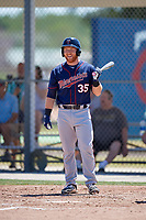 Minnesota Twins Taylor Grzelakowski (35) during a Minor League Spring Training game against the Tampa Bay Rays on March 17, 2018 at CenturyLink Sports Complex in Fort Myers, Florida.  (Mike Janes/Four Seam Images)