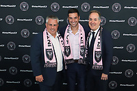 MLS Inter Miami CF, Head Coach Diego Alonso at his Press Introduction. MLS Inter Miami CF, Sporting Director Paul McDonough, Head Coach Diego Alonso and Managing Owner Jorge Mas